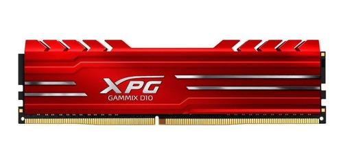 Imagem 1 de 3 de Memória RAM Gammix D10 color Red  16GB 1 XPG AX4U2666316G16-SRG