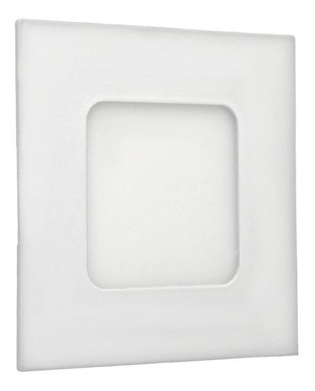Painel Plafon Led 3w Embutir Quadrado Branco Frio