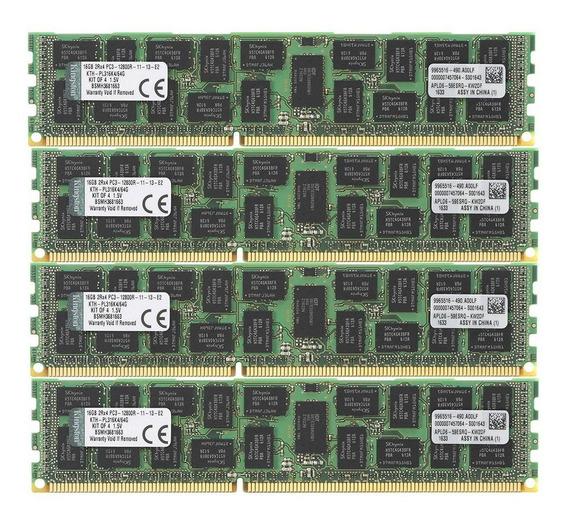 Memoria Ram 64gb Kingston Technology 1600 Mhz Ddr3 Reg Ecc Dimm Para Hp/compaq Server (kth-pl316k4/64g)