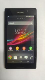 Celular Sony C C2304 C/defeito P/ Peças Ou Aparel Fake Preto