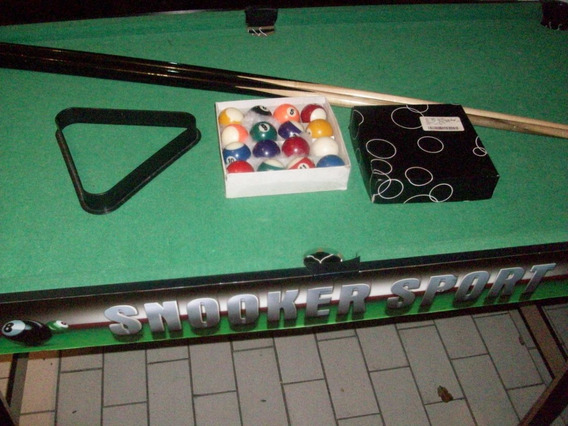 Pool Mesa Semi Profesional Snooker Importad Venta Negociable