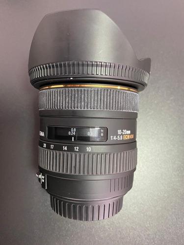 Lente Canon Objetiva Sigma 10-20 Mm F/4.5.6 Ex