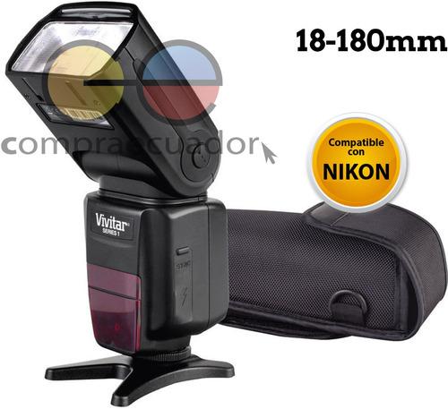 Vivitar Flash Para Camara Profesional Compatible Nikon I-ttl