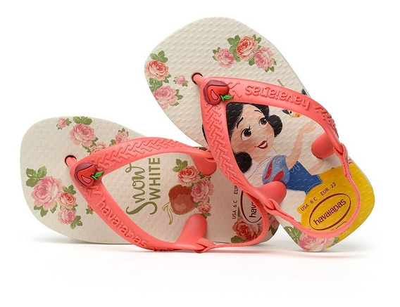 Sandálias Havaianas - Chinelo Infantil Baby Disney Princess