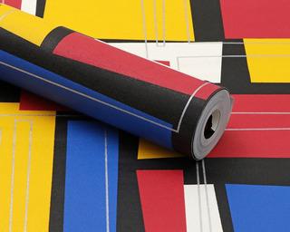 Papel De Parede Vinílico Lavável Abstrato Colorido