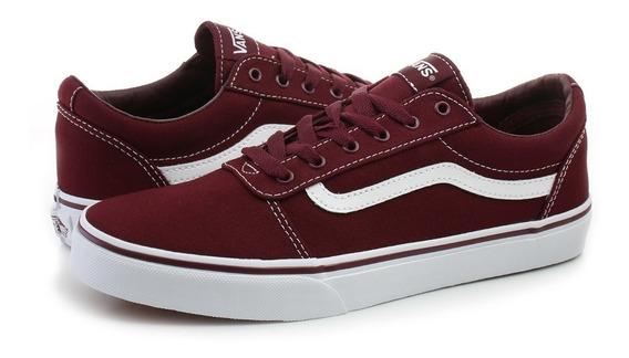 Vans Zapatilla Lifestyle Unisex Ward Bordo - Blanco
