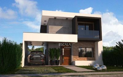 Casa Duplex Com 4 Quartos À Venda, 130 M², Área De Lazer, Condomínio Fechado, Financia - Jacunda - Aquiraz/ce - Ca0295