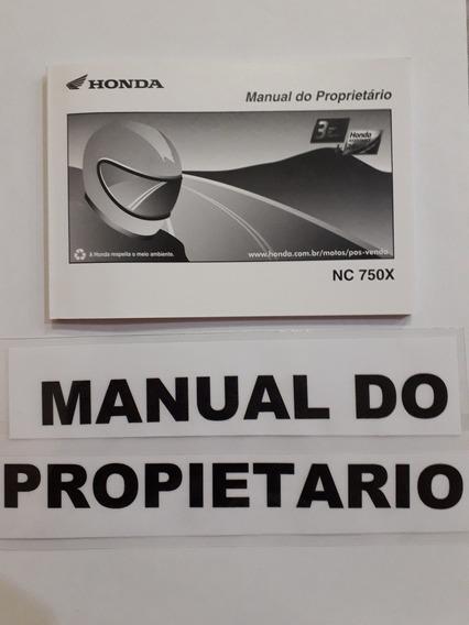 Manual Do Proprietário Honda Nc 750x 2017(novo)