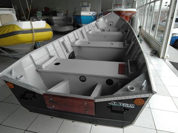 Barco De Alumínio Dourado 600
