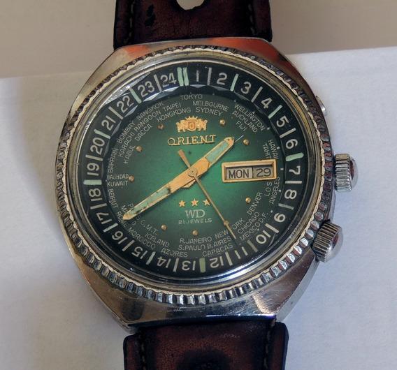 Relógio Orient Wd World Diver Automático Horário Mundial