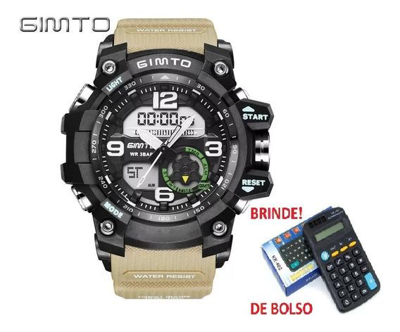 Relógio Gimto Militar Gm 305 + Brinde