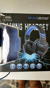 Fone De Ouvido Headfone Knup- Kp433- Para P4/x-one