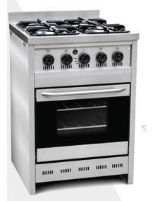 Cocina A Gas Con Puerta De Vidrio Corbelli 58x60cm Cod451-58