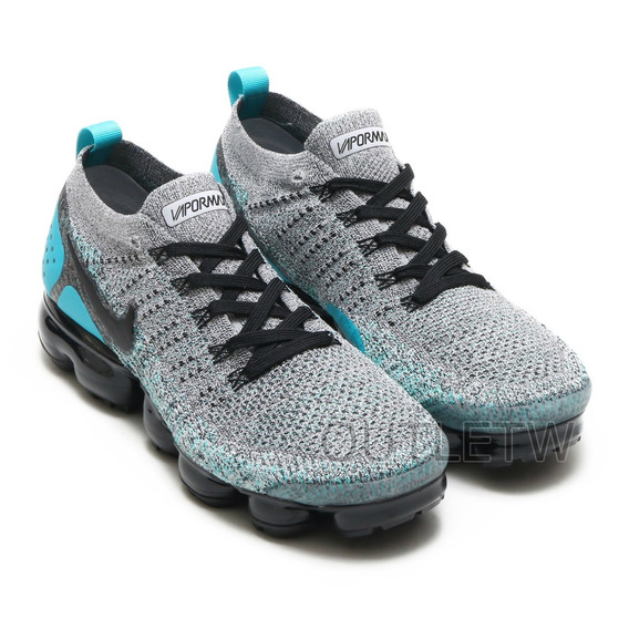 Tenis Nike Vapormax Flyknit 2.0 Original Air Gray And Jade