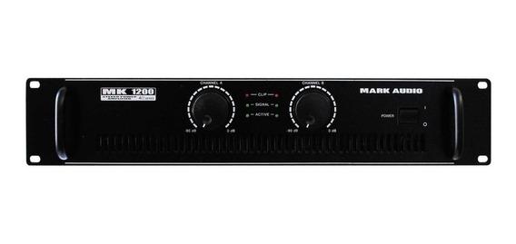 Amplificador De Potencia Mark Audio 200w Mk1200 Nota Fiscal