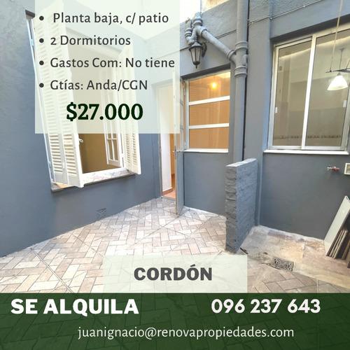 Alquiler Casa 2 Dormitorios Cordón Montevideo I