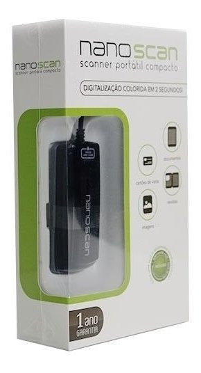 Scanner Portátil Compacto Nano Scan Ms802bl 300 Dpi Original