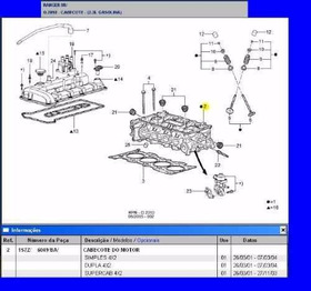 Cabeçote Do Motor Da Ranger 2.3 16v Gasolina 01a04