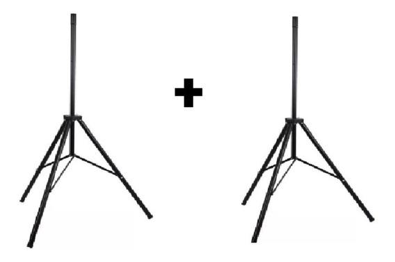 Kit 2 Tripe Caixa De Som Aco Suporte Pedestal Reforcado