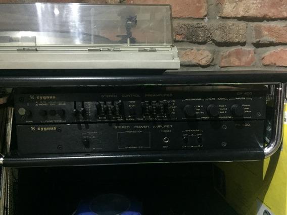 Amplificador E Pré Cygnus Pa400. Ótimo Estado