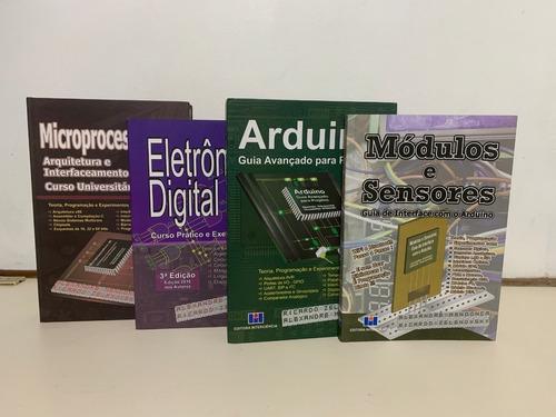 Imagem 1 de 7 de 4 Livros Microp, Arduino, Sens, Eletrônica Digital. 15%desc