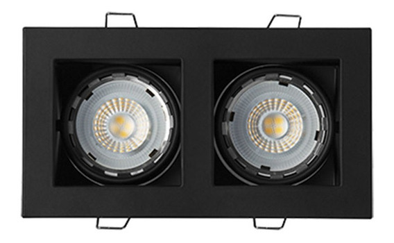 Luminario Doble Base Empotrar En Techo Th-4231.nn Illux