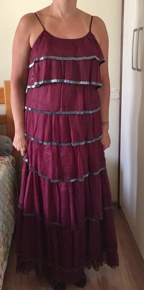 Vestido De Festa Em Seda Reinaldo Lourenço - Acompanha Bolsa