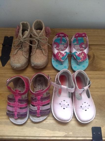 Lote 4 Sapatos Menina Tamanho 22 23