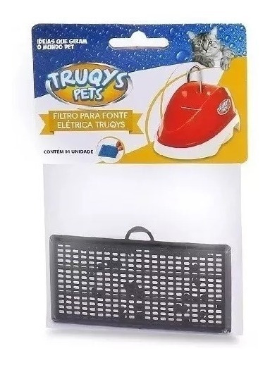 Kit 3 Filtros Para Fonte Elétrica Truqys Pet Carvão Promoção