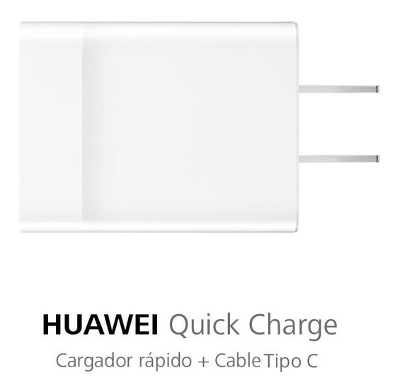 Cargador Rápido Huawei Quick Charge P20 Lite + Cable Tipo C