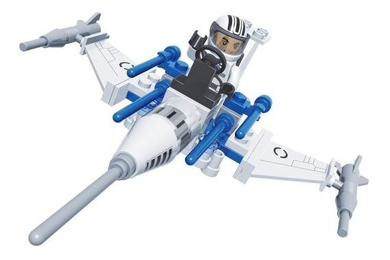 Brinquedo De Montar - Nave Caça - Com 58 Peças