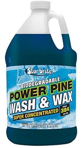 Imagen 1 de 2 de Star Brite Power Pine Concentrado Lavado Y Cera Biodegradab.