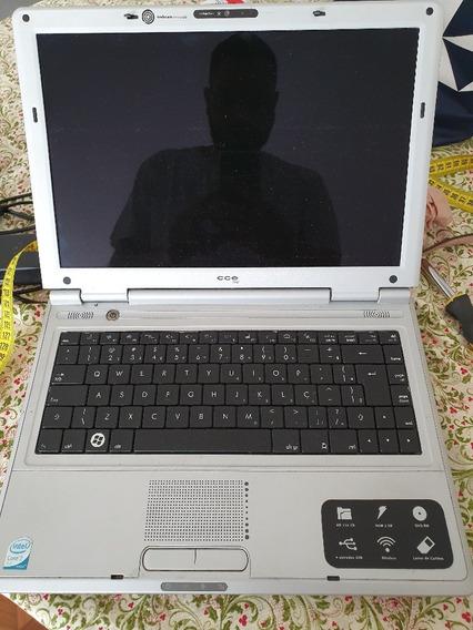 Notebook Cce Core 2 Duo. Sem Bateria E Hd