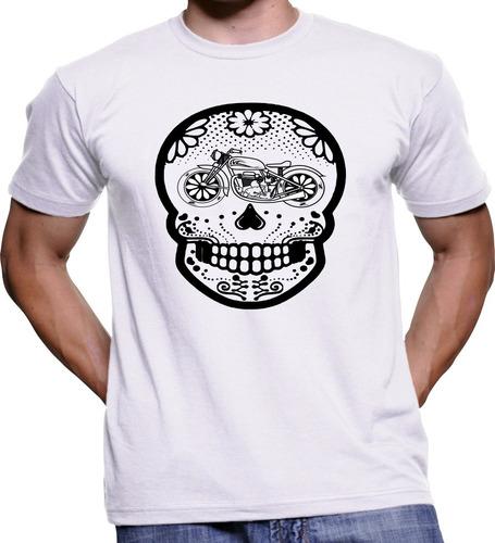 Camisa Camiseta Moto Caveira Clube Motoqueiro Motociclismo
