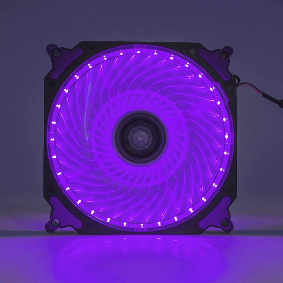 Cooler Fan Pc Gamer 120mm Led Roxo Ventoinha Dx-12h