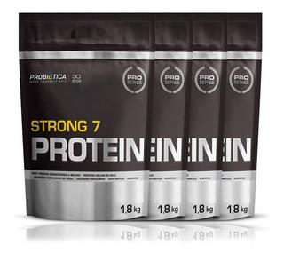 4x Whey Protein Strong 7 1800g Cada + Coqueteleira - Probiót