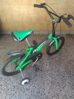 Bici Niño Xterra X16 Verde Rueditas