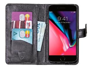 Capa Carteira iPhone 8 Plus / 7 Plus | Skudo Couro Legítimo
