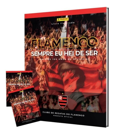 Box Premium Flamengo - Álbum Capa Dura+50 Envelopes+6 Cromos
