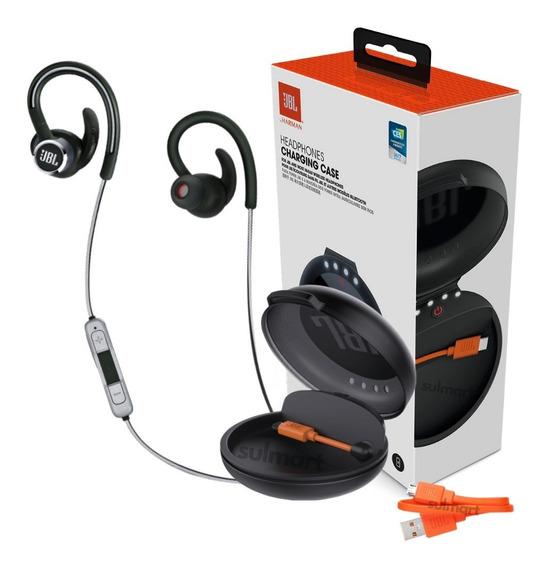 Fone De Ouvido Jbl Reflect Contour 2 Bt Bluetooth + Estojo Carregador Jbl Charging Case Original Lacrado Nota Fiscal