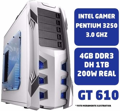 Cpu Gamer Pc Intel Pentium G3220 4gb Hd 1tb Gt 610 Ga-h81m-h