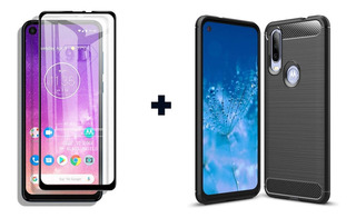 Funda Tpu Motorola One Action + Templado Full Cover 2.5d