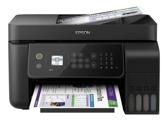 Impressora a cor multifuncional Epson EcoTank L5190 com wifi 110V/220V preta