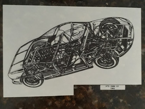 Projeto Protótipo Cutaway Raio-x Alfa Romeo Ats 2500 Gt 1963