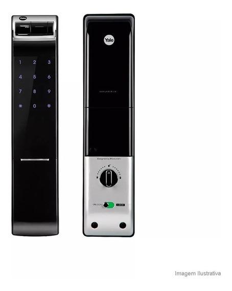 Fechadura Digital Biométrica Ydm 4109rl Rolete Yale