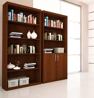 2 Bibliotecas De 6 Estantes 2 Puertas Modular Oficina Mueble