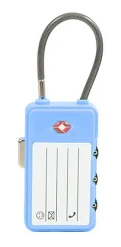 Imagem 1 de 1 de Cadeado Tsa Com Identificador E Cabo De Aço Sestini - 81041