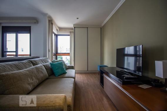 Apartamento No 14º Andar Mobiliado Com 1 Dormitório E 2 Garagens - Id: 892984491 - 284491
