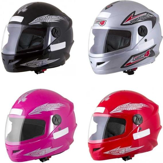 Capacete Fechado Moto Masculino/feminino Barato Varias Cores