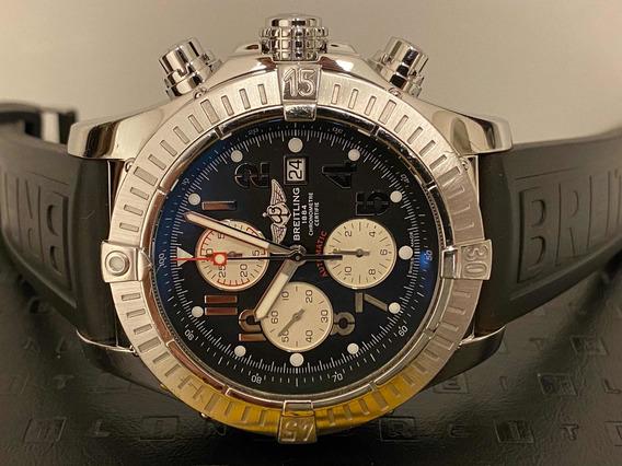 Relógio Breitling Super Avenger Crono A13370 48mm Completo.